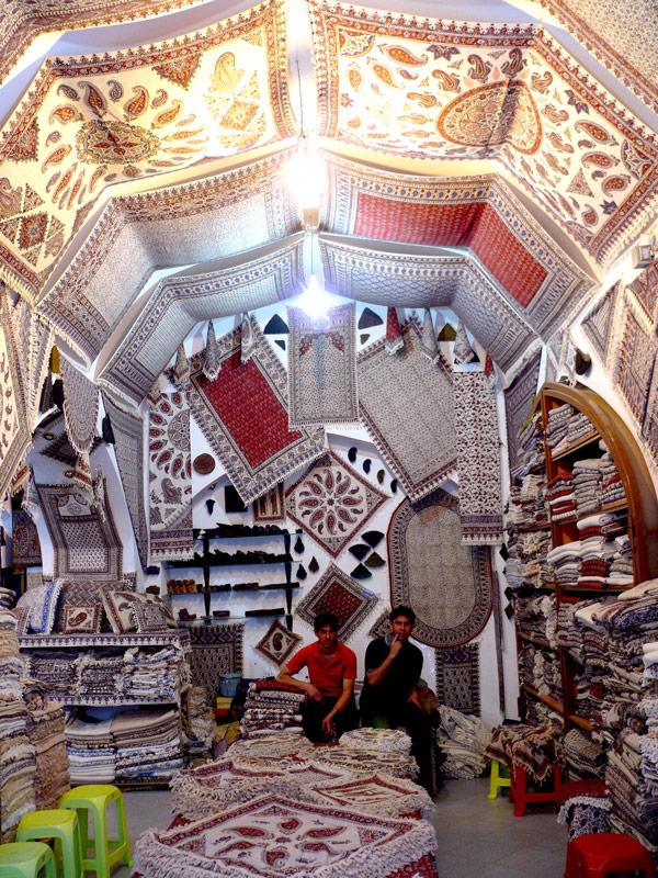Boutique dans le bazar d'Ispahan